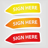 Sign here — Vector de stock