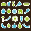 food stickers — Stock Vector