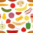 Foods seamless pattern — Stock Vector #10634978