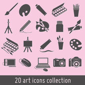 Art icons — Stock Vector