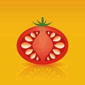 Red tomato — Stock Vector