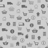 Shopping seamless pattern — Cтоковый вектор