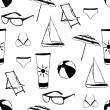 Doodle summer seamless pattern — Stock vektor