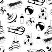 Zabawki wzór zbiory — Wektor stockowy