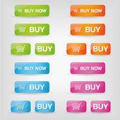 Acheter des boutons — Vecteur