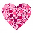 Stock Vector: Dots heart