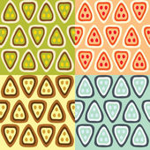 Four patterns — Stock Vector