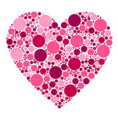 Dots heart — Stock Vector