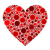 Red dots heart — Stock Vector