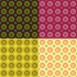 Retro seamless patterns — Stockvectorbeeld