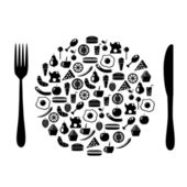 Icon plate — Stock Vector
