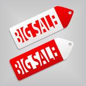 大きな販売のタグ — ストックベクタ