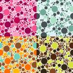 Dots seamless patterns — Stock Vector