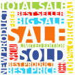 Sale text — Stock Vector