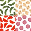 Foods seamless patterns — Stock Vector #9466605
