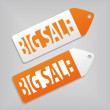 Big sale tags — Vettoriali Stock