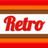 Retro title — Stock Vector