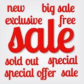 Sale titles — Stock Vector