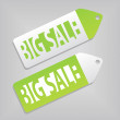 Big sale tags — Stock vektor