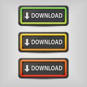 Buttons herunterladen — Stockvektor