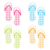 Flip flop collection — Stock Vector