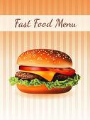 меню гамбургер — Cтоковый вектор