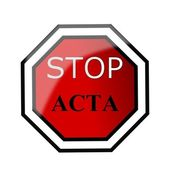 Stop ACTA — Stock Vector