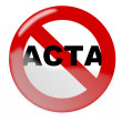Royalty-Free Stock Vector Image: Stop Acta