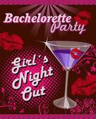 Illustration for bachelorette party — Stock Vector