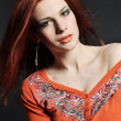 Sexy young redhead girl — Stock Photo