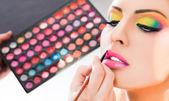 Lápiz labial maquillaje — Foto de Stock