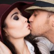 Young couple kissing — Stock Photo #10534609