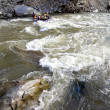 Stock Photo: Whitewater rafting river