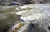 Whitewater rafting river — Stock Photo