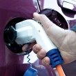 Electric car refil - Stock Photo