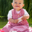 Sweet baby girl smiling — Stock Photo