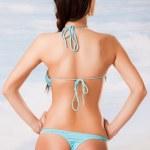 Female swimsuit back — Stock Photo
