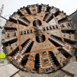 Tunnel boring machine head — Stock Photo #9015892