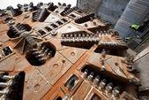 Huge tunnel boring machine head — Stock Photo