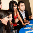 Young black jack casino — Stock Photo