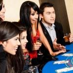 Young black jack casino — Stock Photo