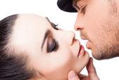 Par kyssa passion kärlek — Stockfoto
