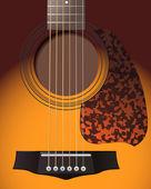 Guitar closeup — Stock Vector