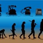 Phone evolution — Stock Vector