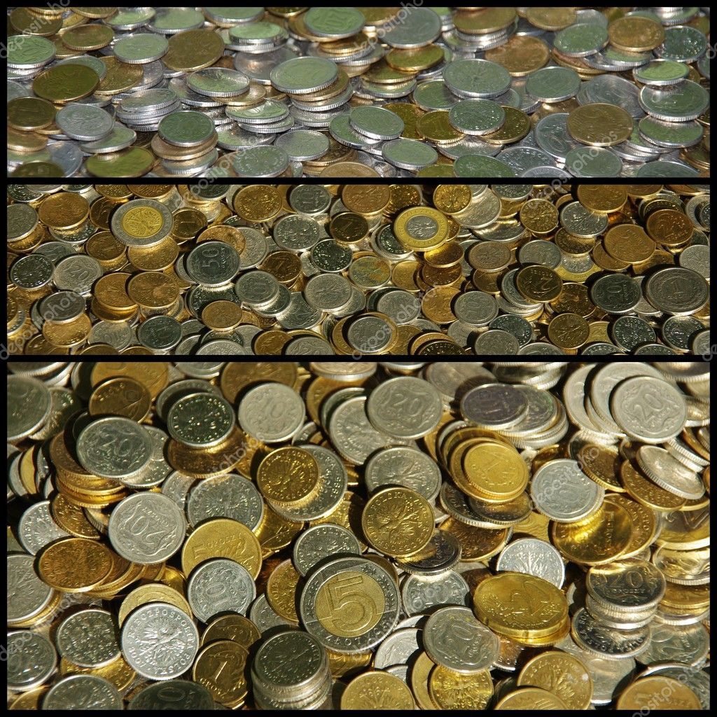 Coins, collage  Stock Photo #10162192