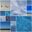 World in blue — Stock Photo