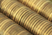 A lot of golden money — Stock Photo
