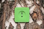 Eco energikoncept med lampa — Stockfoto