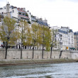 Foto Stock: Shore of Seine