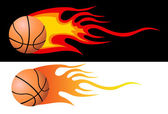 Vector Flaming Basketball — Stock Photo